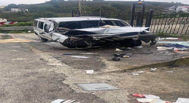 Giresun'da trafik kazası: 1 ölü, 3 yaralı
