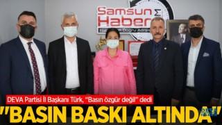 """DEVA Partisi İl Başkanı Türk, """"Basın özgür değil"""" dedi. """"Basın baskı altında!"""