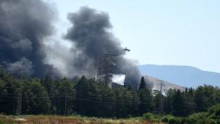 Dalaman'daki yangın söndürme çalışmalarında 2 kişi yaralandı