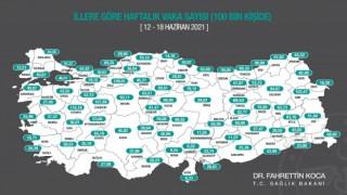 Karadeniz'de 4 ilde vaka sayıları arttı, 14 ilde düştü