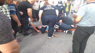 Motosikletlerin karıştığı kazada 3 kişi yaralandı