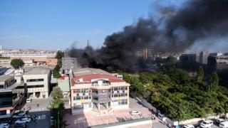 Bahçelievler'de mobilya fabrikasında yangın